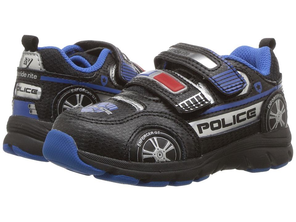 Stride Rite Vroomz Police Cruiser (Toddler/Little Kid) (Black/Silver) Boys Shoes
