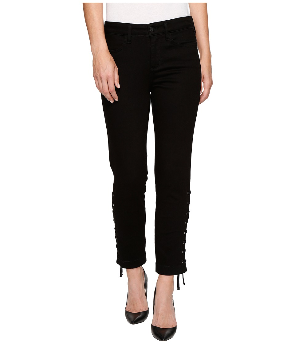 NYDJ Ankle w/ Lace-Up Detail in Black (Black) Women