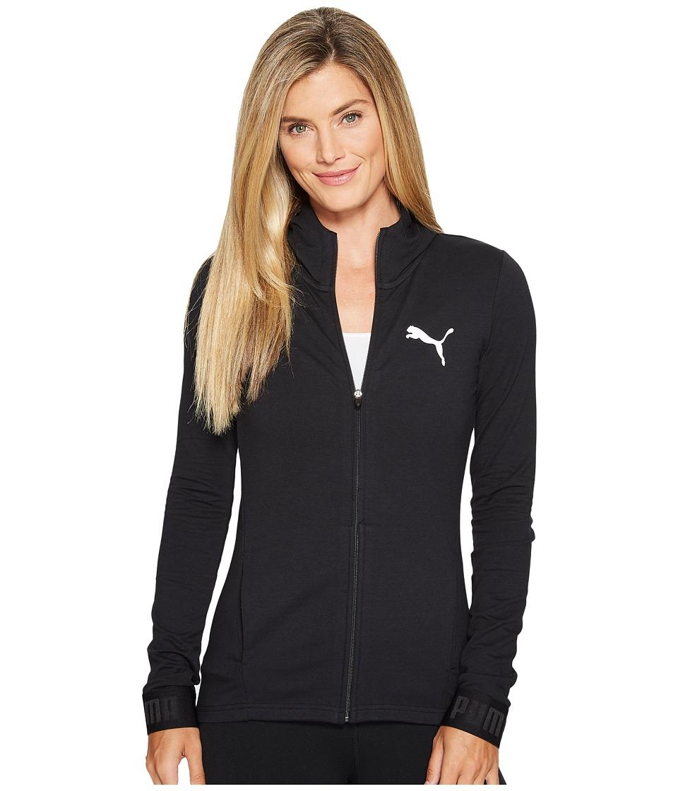 PUMA Urban Sports Full Zip Hoodie (PUMA Black) Women