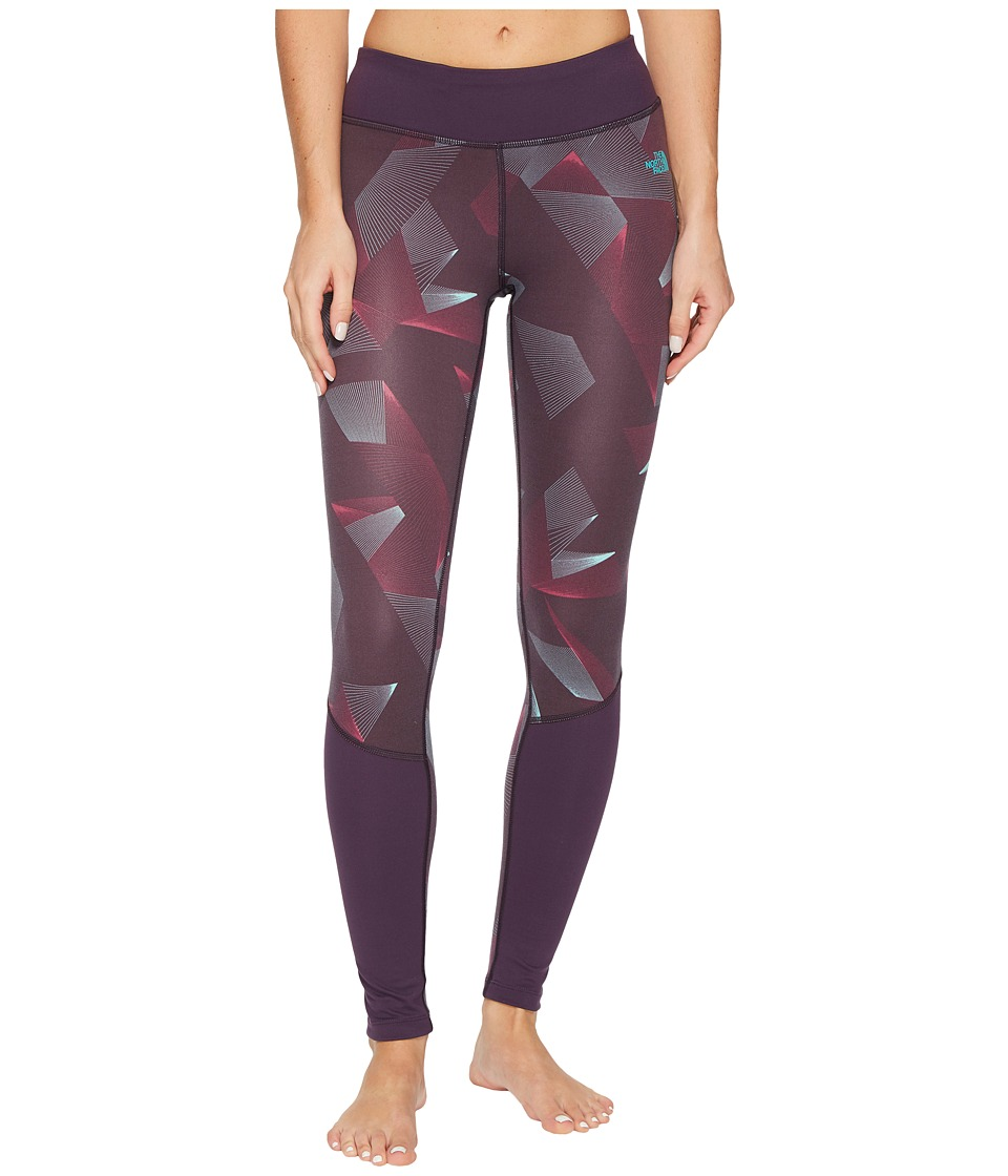 The North Face Pulse Tights (Dark Eggplant Purple Space Geo Print) Women
