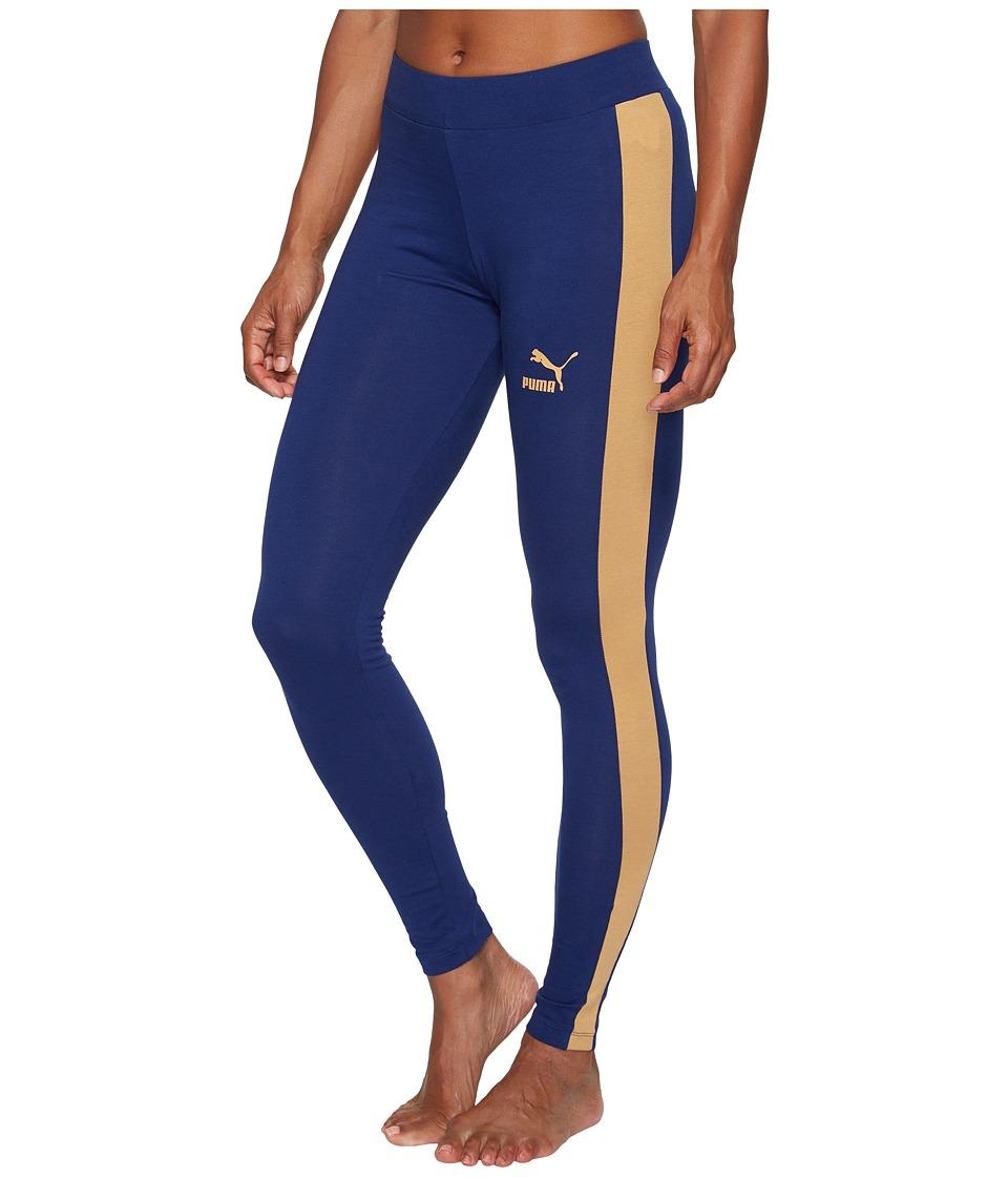 PUMA Archive Logo T7 Leggings (Blue Depths) Women
