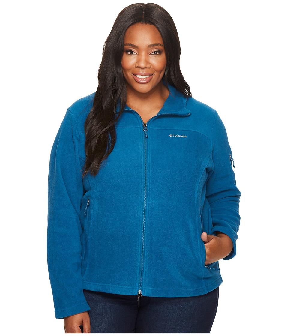 Columbia Plus Size Fast Trektm II Full Zip Fleece Jacket (Phoenix Blue) Women
