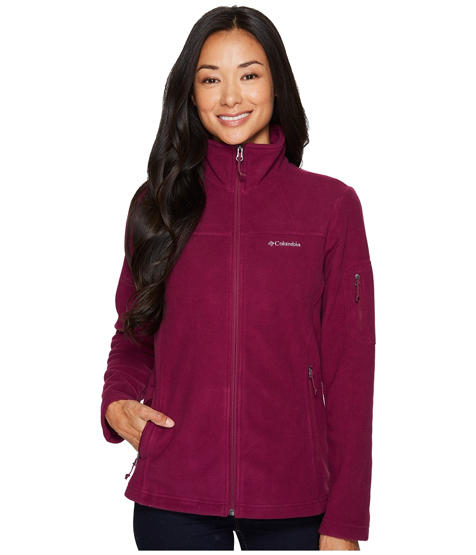 Columbia Fast Trektm II Full-Zip Fleece Jacket (Dark Raspberry) Women