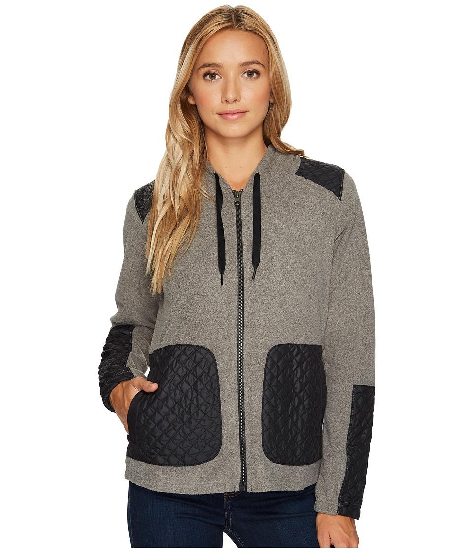 Columbia Warm Up Hooded Fleece Full Zip (Charcoal Heather) Women