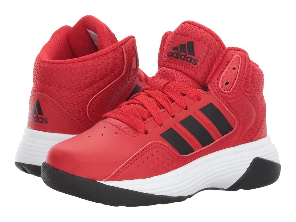 adidas Kids Cloudfoam Ilation Mid (Little Kid/Big Kid) (Scarlet/Core Black/Footwear White) Kids Shoes