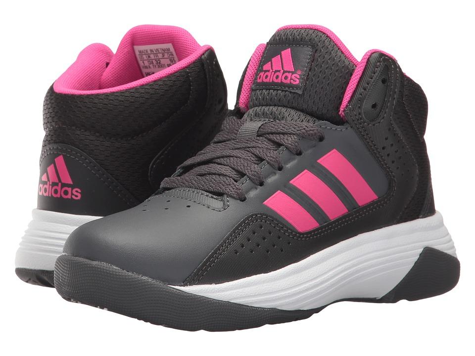 adidas Kids Cloudfoam Ilation Mid (Little Kid/Big Kid) (Grey Five/Shock Pink/Utility Black) Kids Shoes