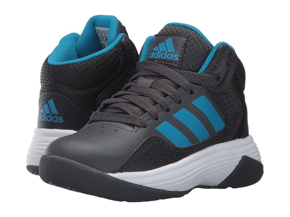 adidas Kids Cloudfoam Ilation Mid (Little Kid/Big Kid) (Grey Five/Solar Blue/Utility Black) Kids Shoes