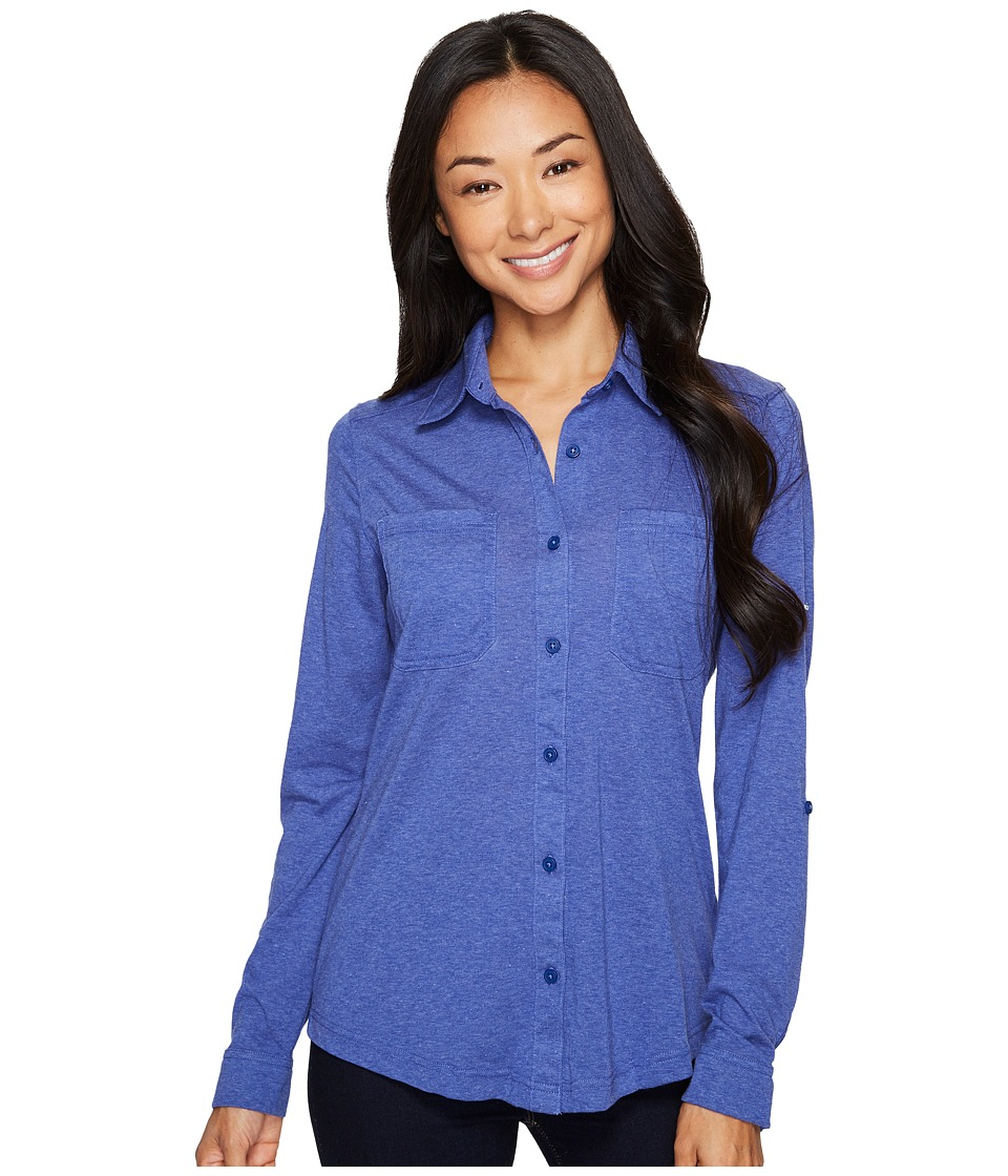 Columbia Saturday Trail Knit Long Sleeve Shirt (Dynasty Heather) Women