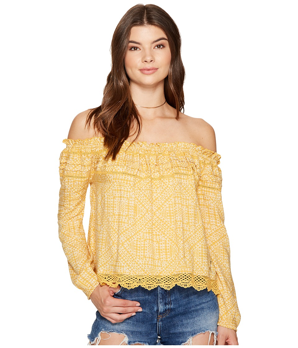 Roxy Off The Shoulder Cold Shoulder Top (Golden Apricot Cayo Coco) Women