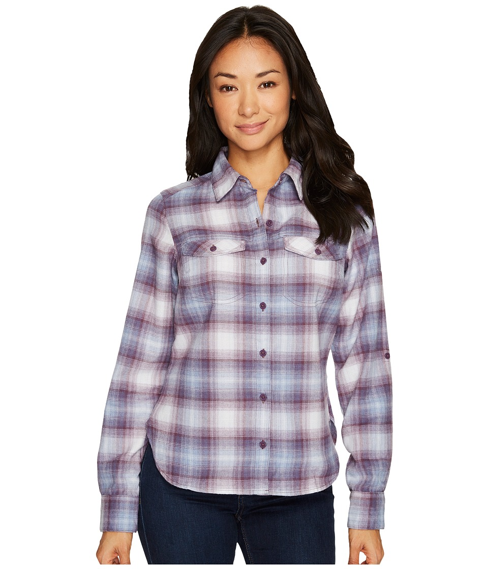 Columbia Silver Ridge Long Sleeve Flannel Shirt (Dusty Purple Ombre Plaid) Women