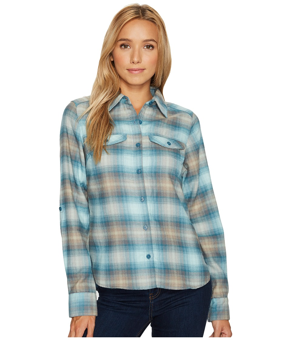 Columbia Silver Ridge Long Sleeve Flannel Shirt (Cloudburst Ombre Plaid) Women