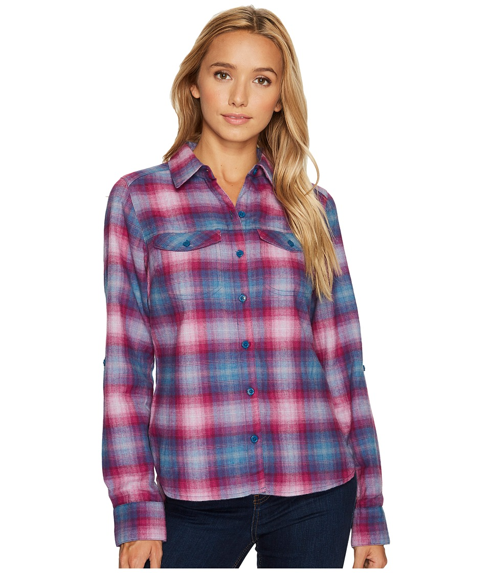 Columbia Silver Ridge Long Sleeve Flannel Shirt (Phoenix Blue Ombre Plaid) Women
