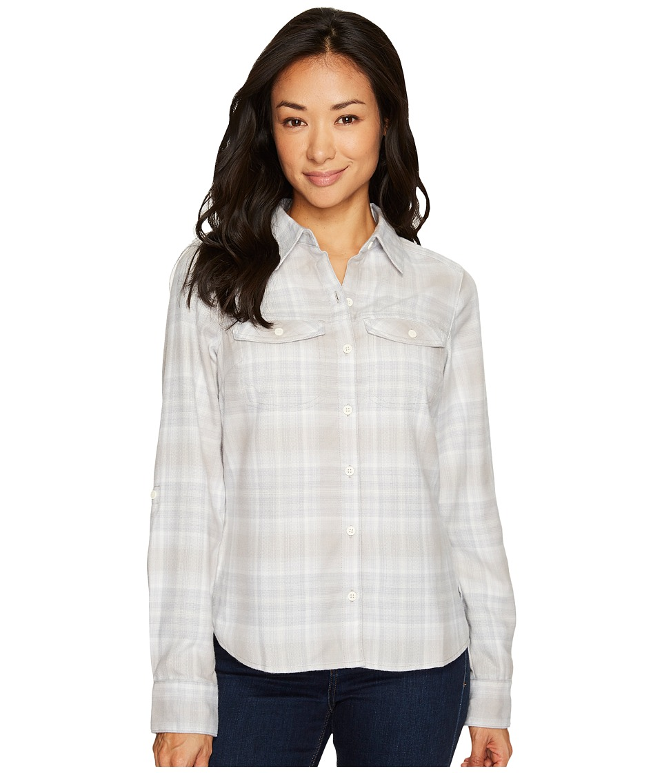 Columbia Silver Ridge Long Sleeve Flannel Shirt (Sea Salt Ombre Plaid) Women