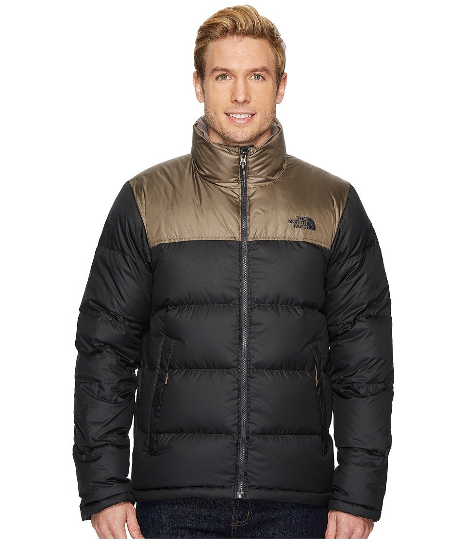 The North Face Nuptse Jacket (Asphalt Grey/Falcon Brown) Men
