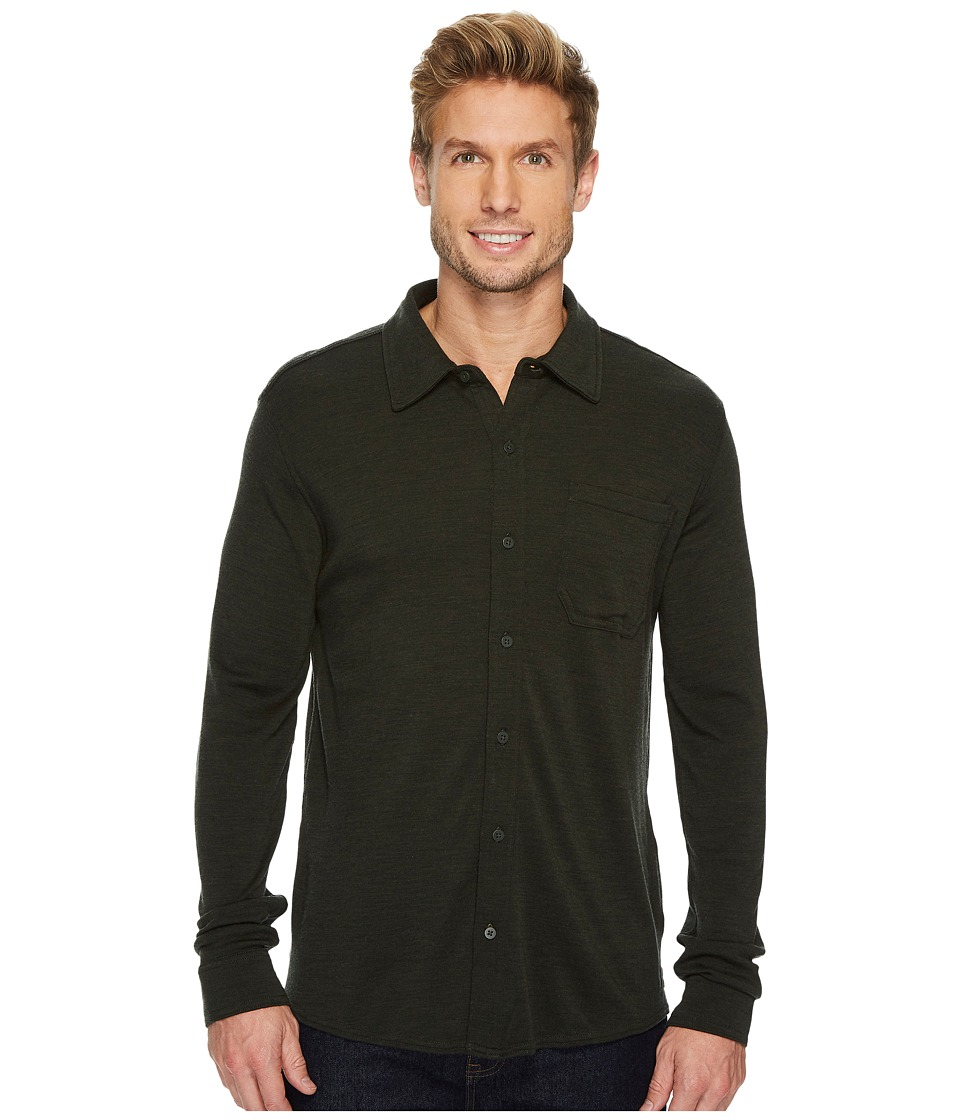 Smartwool Merino 250 Button Down Long Sleeve Shirt (Olive Heather) Men