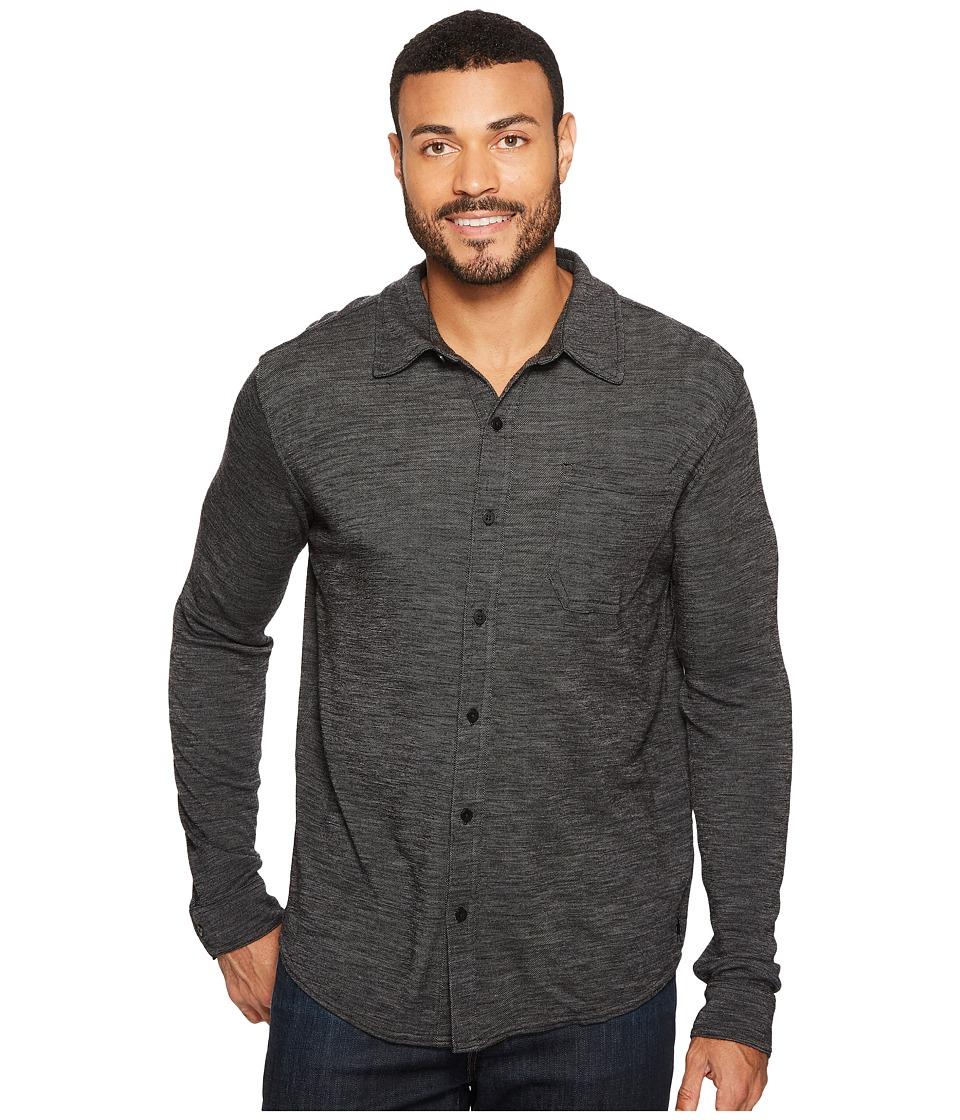 Smartwool Merino 250 Button Down Long Sleeve Shirt (Black/Light Gray) Men