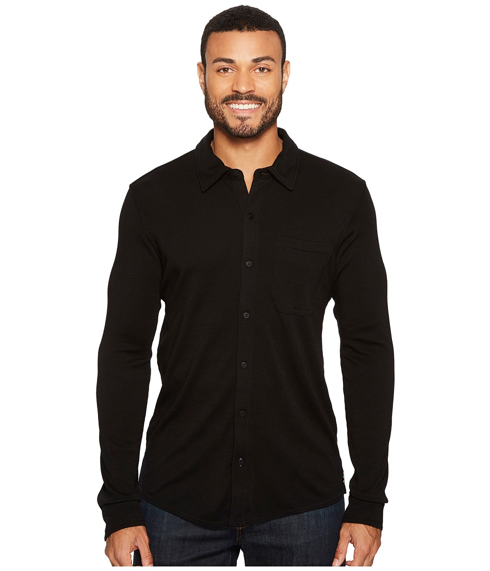 Smartwool Merino 250 Button Down Long Sleeve Shirt (Black) Men