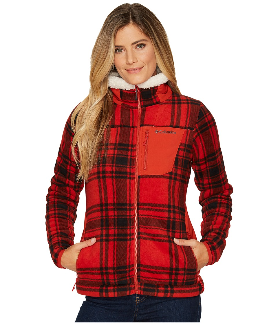 Columbia Panorama Ridge Fleece Jacket (Sail Red Traditional Plaid) Women