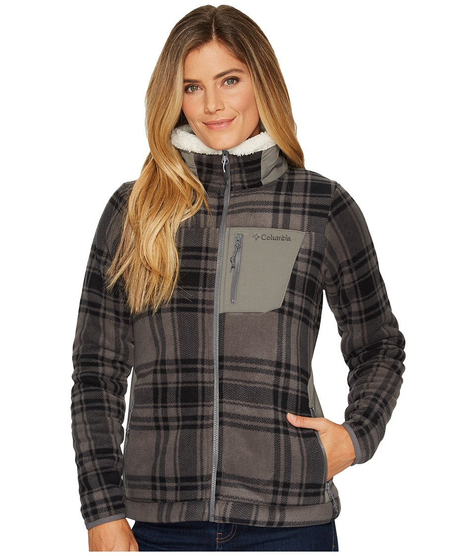 Columbia Panorama Ridge Fleece Jacket (Charcoal Traditional Plaid) Women
