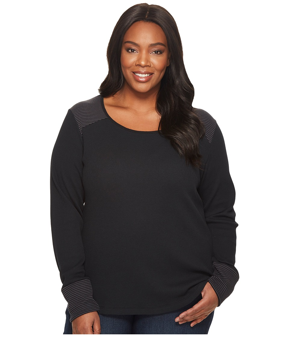 Columbia Plus Size Along The Gorge Thermal Crew (Black) Women