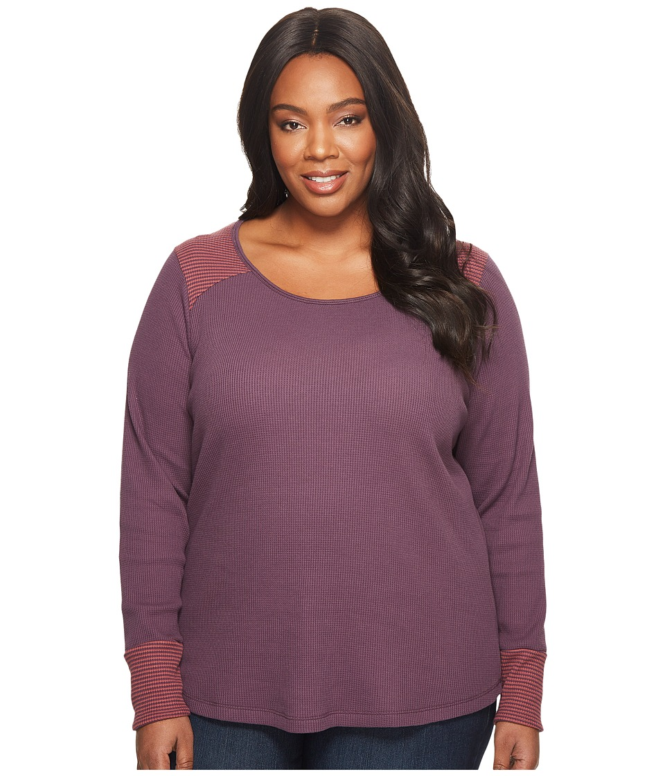 Columbia Plus Size Along The Gorge Thermal Crew (Dusty Purple) Women