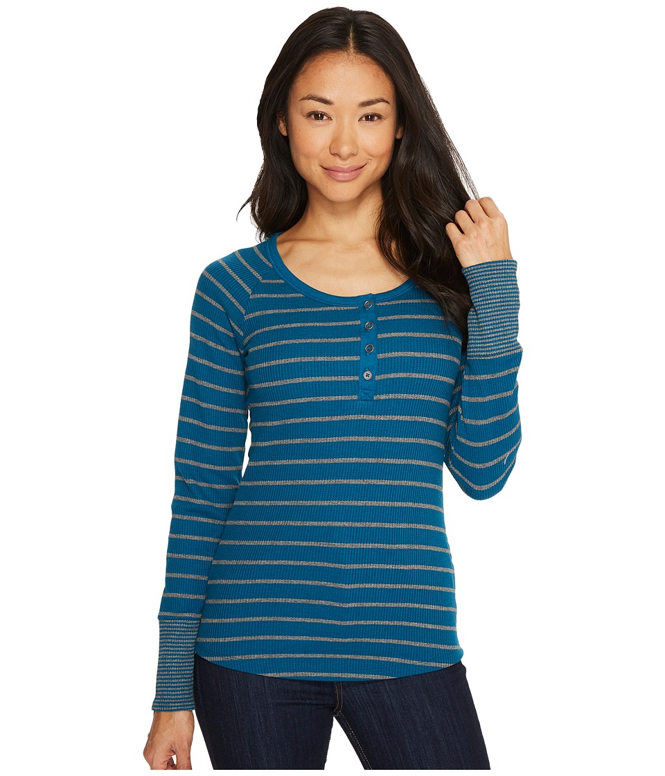Columbia Along The Gorge Thermal Henley (Phoenix Blue/Light Gray Heather) Women