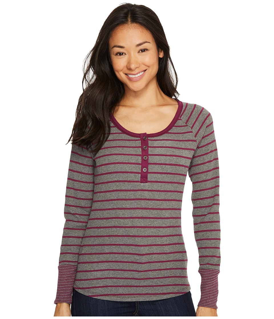 Columbia Along The Gorge Thermal Henley (Dark Raspberry/Light Grey Heather/Raspberry) Women