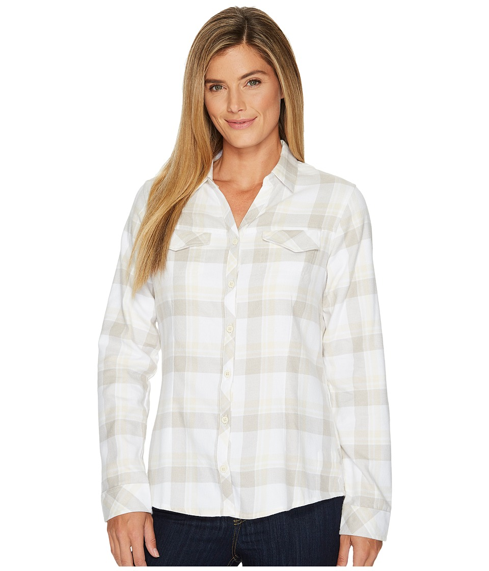 Columbia - Simply Puttm II Flannel Shirt (Chalk Open Ground Plaid) Womens Long Sleeve Button Up