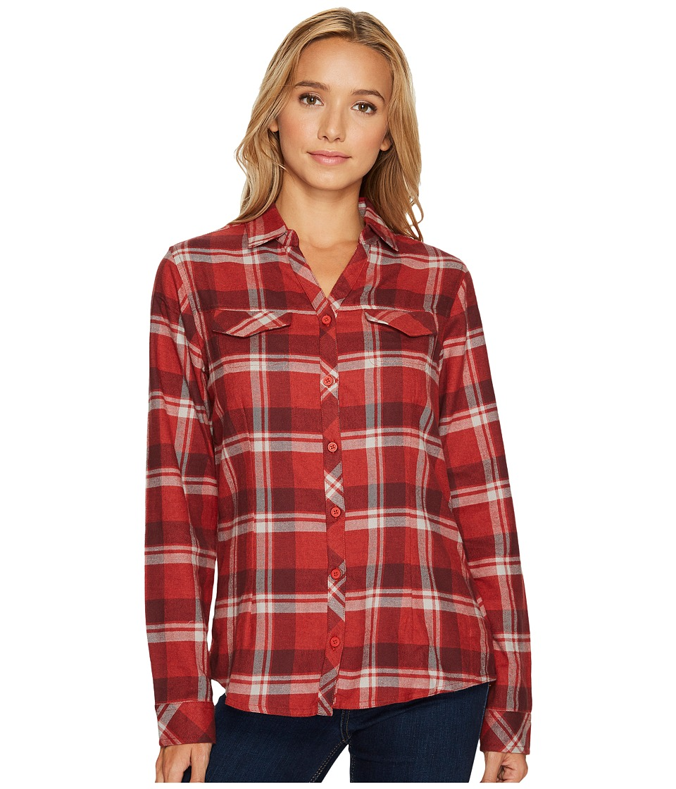 Columbia Simply Puttm II Flannel Shirt (Sail Red Open Gro...