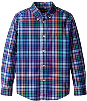 Polo Ralph Lauren Kids - Poplin Plaid Long Sleeve Button Down Shirt (Little Kids/Big Kids)