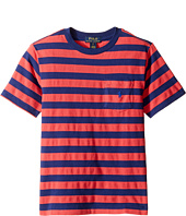 Polo Ralph Lauren Kids - Textured Jersey Short Sleeve Pocket Tee (Big Kids)