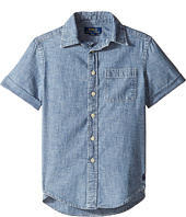 Polo Ralph Lauren Kids - Chambray Short Sleeve Button Down Shirt (Big Kids)