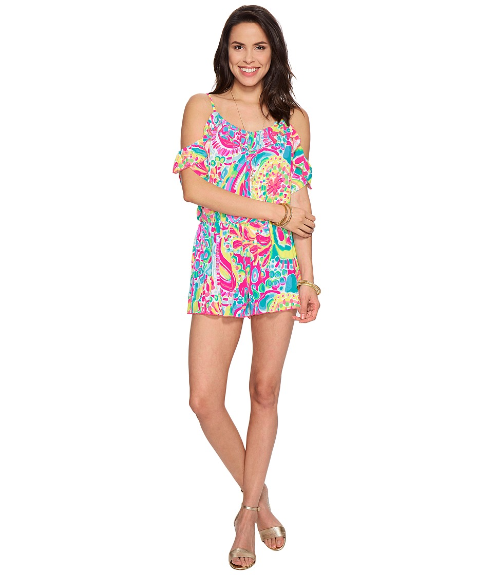 Lilly Pulitzer Fenella Romper (Multi Come Out Of Your She...