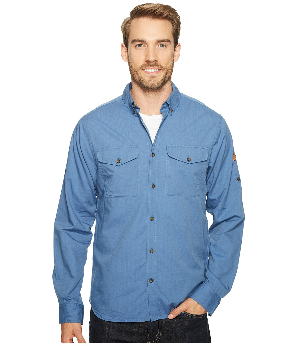 Fjallraven - Ovik Lite Shirt (Blue Ridge) Mens Long Sleeve Button Up