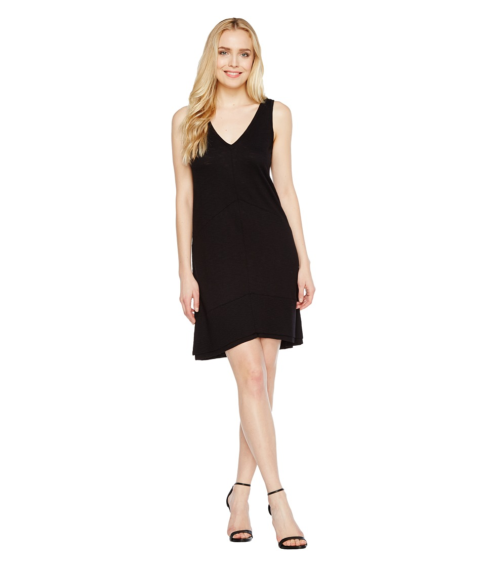 Lilla P Ribbed Bottom Dress (Black) Women