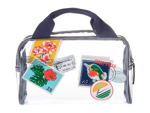 Vera Bradley Luggage Beach Cosmetic - Oxford Postage Stamps