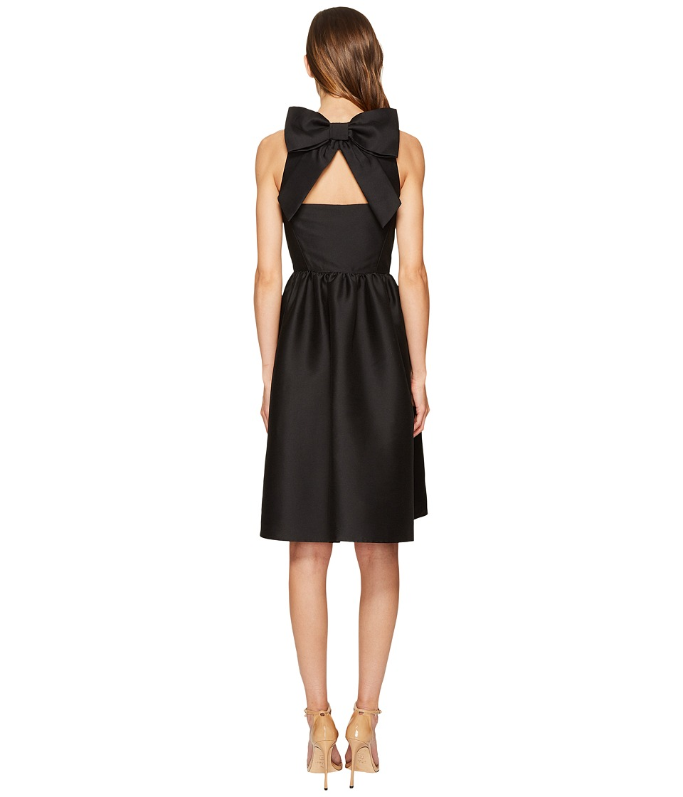 Kate Spade New York Bow Back Fit and Flare Dress (Black) Women