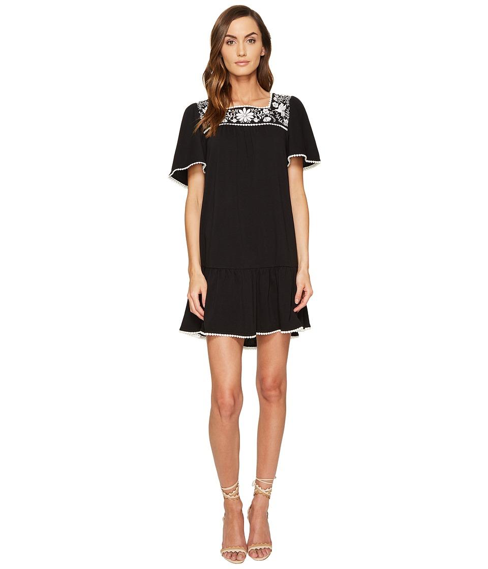 Kate Spade New York Embroidered Dress (Black) Women