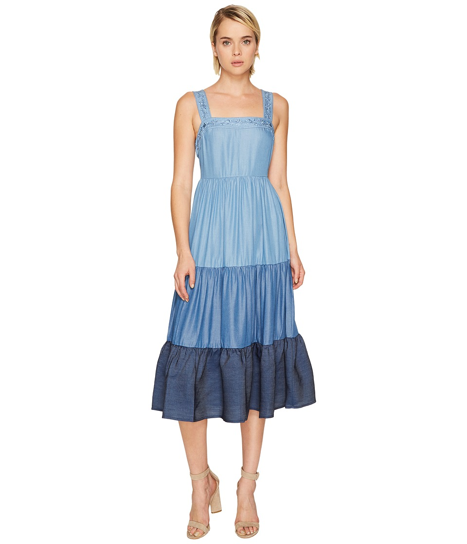 Kate Spade New York Chambray Patio Dress (Indigo Multi) Women
