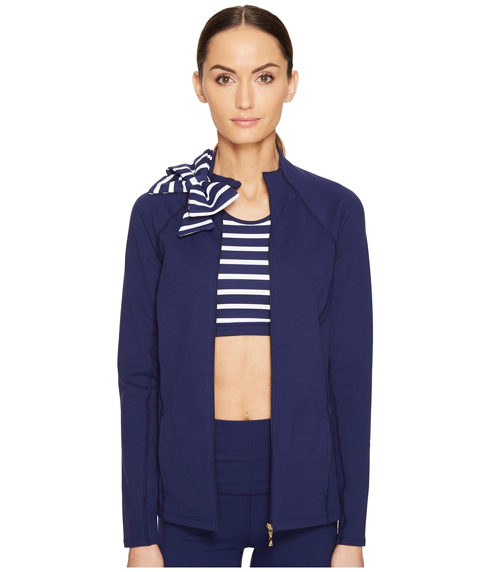 Kate Spade New York x Beyond Yoga Sailing Stripe Neck Bow Jacket (KS Navy) Women