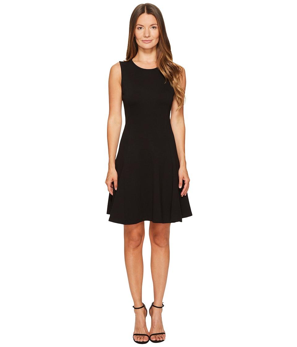 Kate Spade New York Ponte Flounce Dress (Black) Women