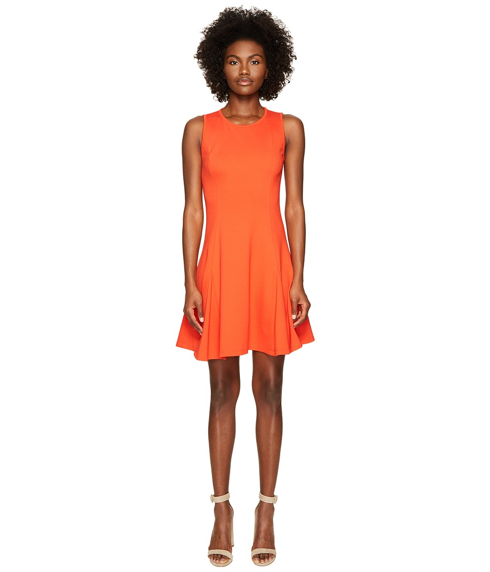 Kate Spade New York Ponte Flounce Dress (Cherry Pepper) Women