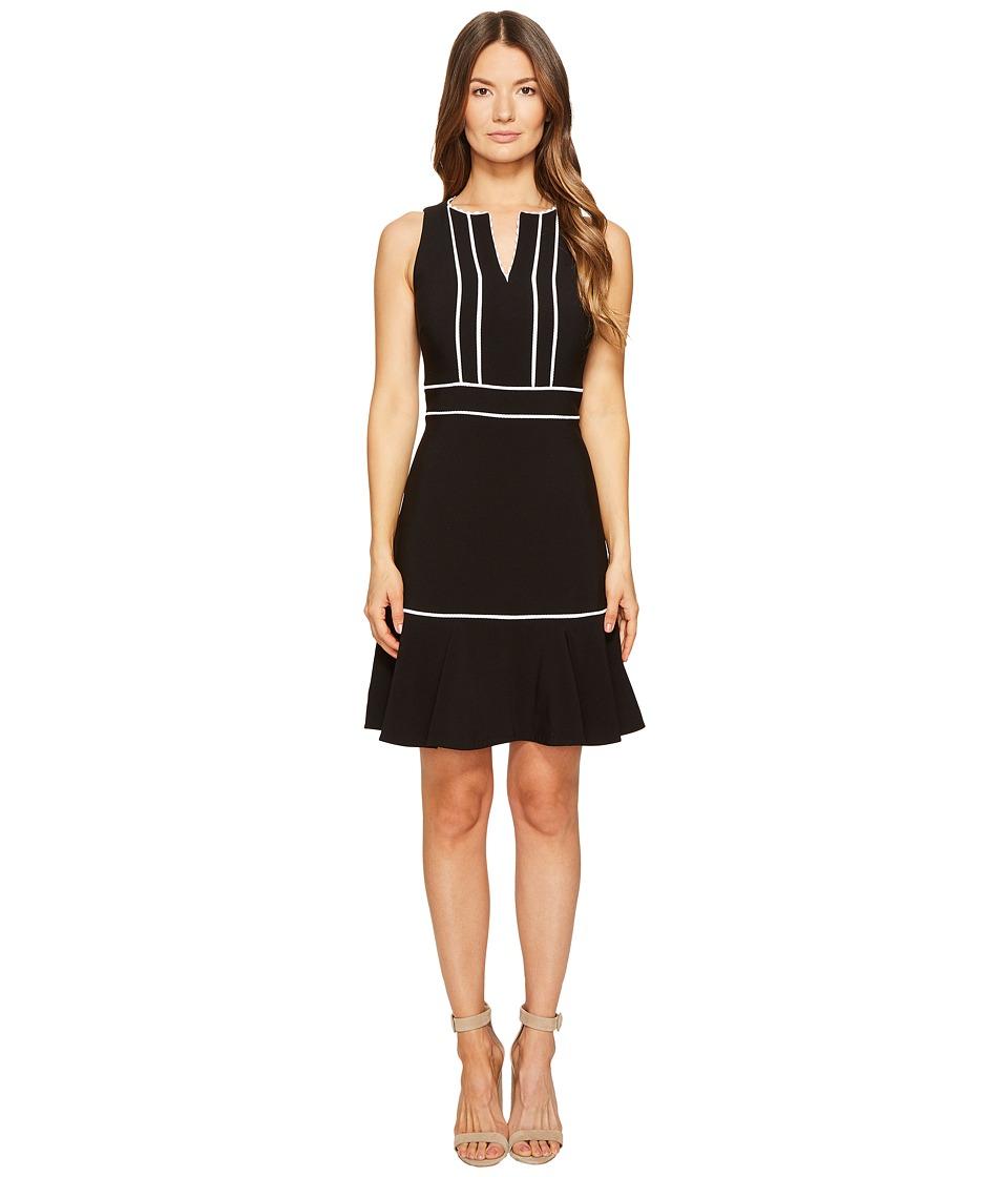 Kate Spade New York Lace Inset Crepe Dress (Black) Women