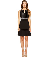 Kate Spade New York - Lace Inset Crepe Dress