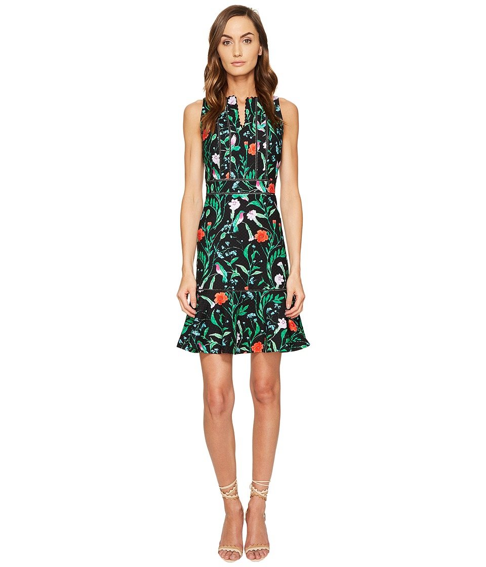 Kate Spade New York Jardin Tile Jacquard Dress (Black) Women