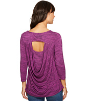 Mod-o-doc - Space Dye Rayon Spandex Jersey Drape-Back 3/4 Sleeve Tee