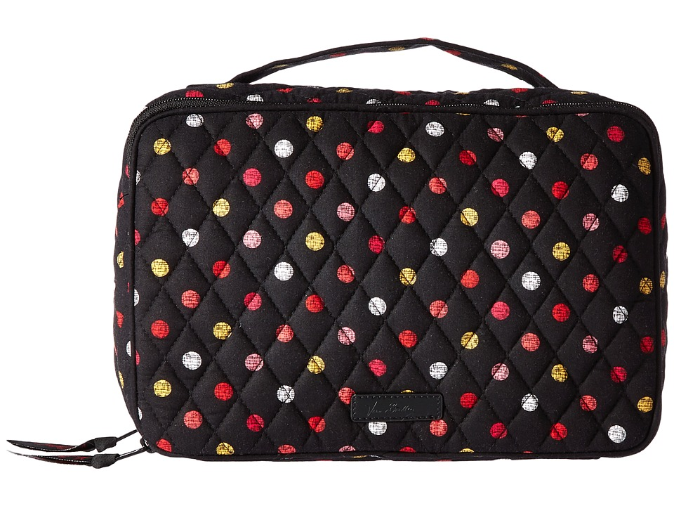 Vera Bradley Luggage Large Blush Brush Makeup Case (Havana Dots) Cosmetic Case