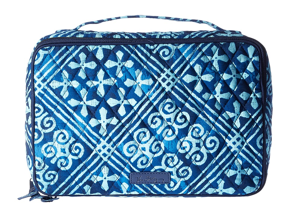 Vera Bradley Luggage Large Blush Brush Makeup Case (Cuban Tiles) Cosmetic Case