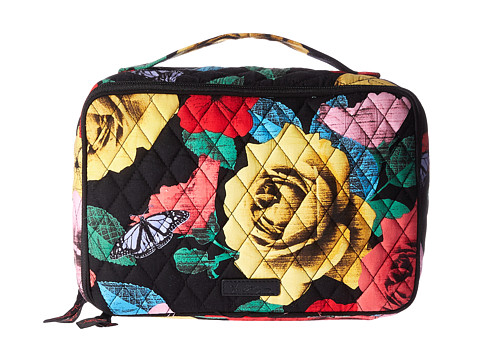 Vera Bradley Luggage Large Blush & Brush Makeup Case - Havana Rose