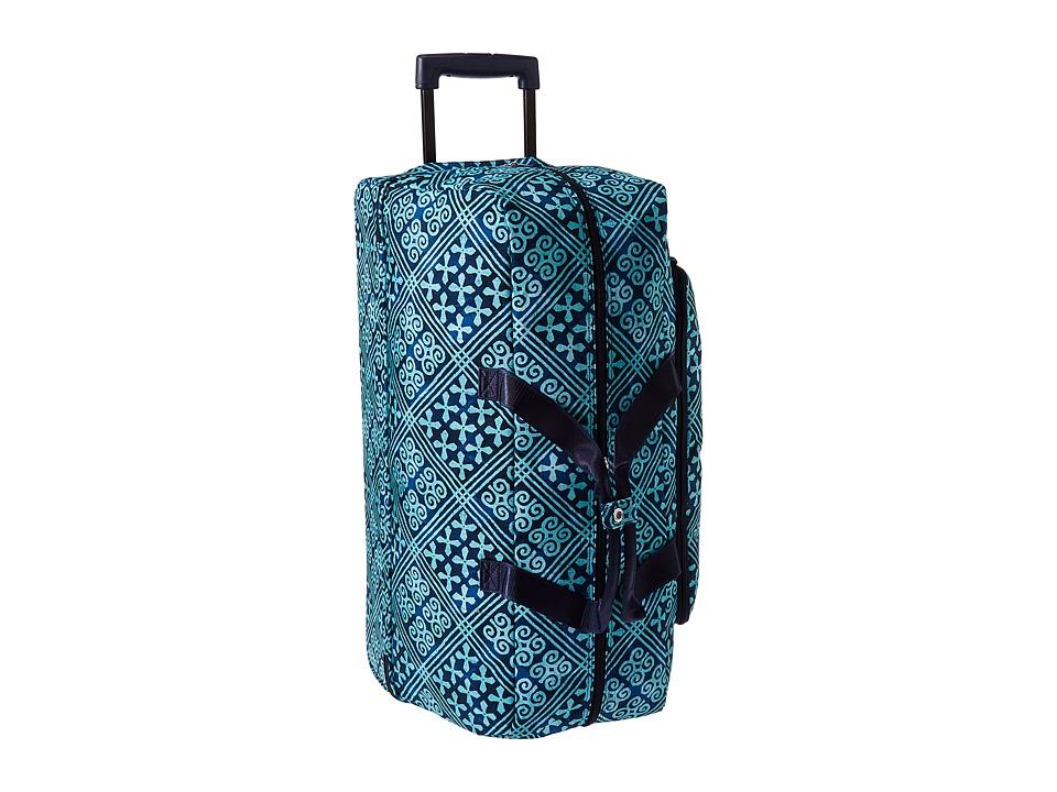 Vera Bradley Luggage Lighten Up Large Wheeled Duffel (Cuban Tiles) Duffel Bags